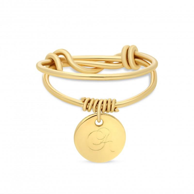Bague Médaille Deux Journées Gold Filled