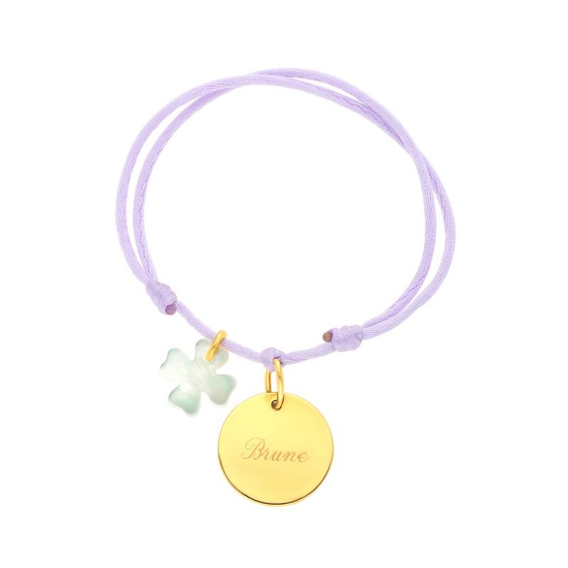 Bracelet médaille doré Chance